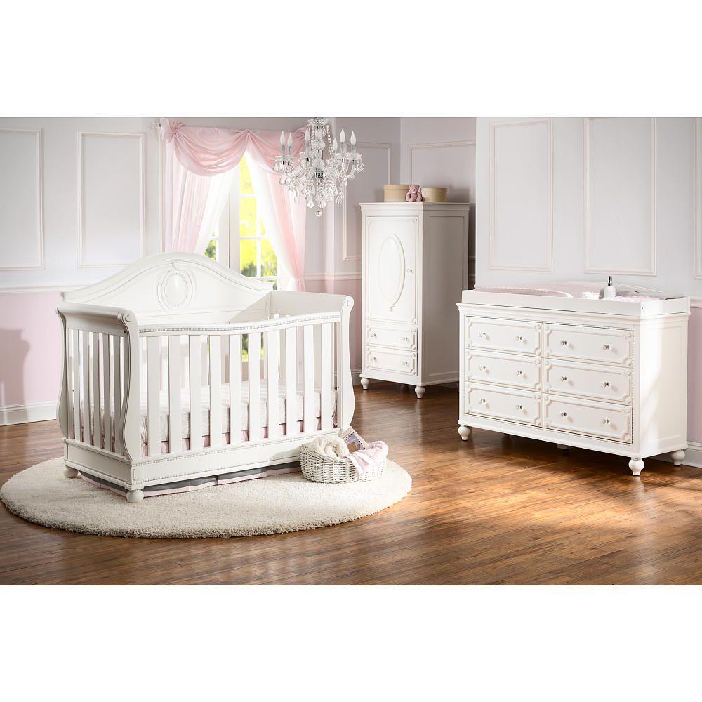 Pottery barn kids sleigh crib - Disney Princess Magical Dreams 4 In 1 Convertible Crib By Delta Children White