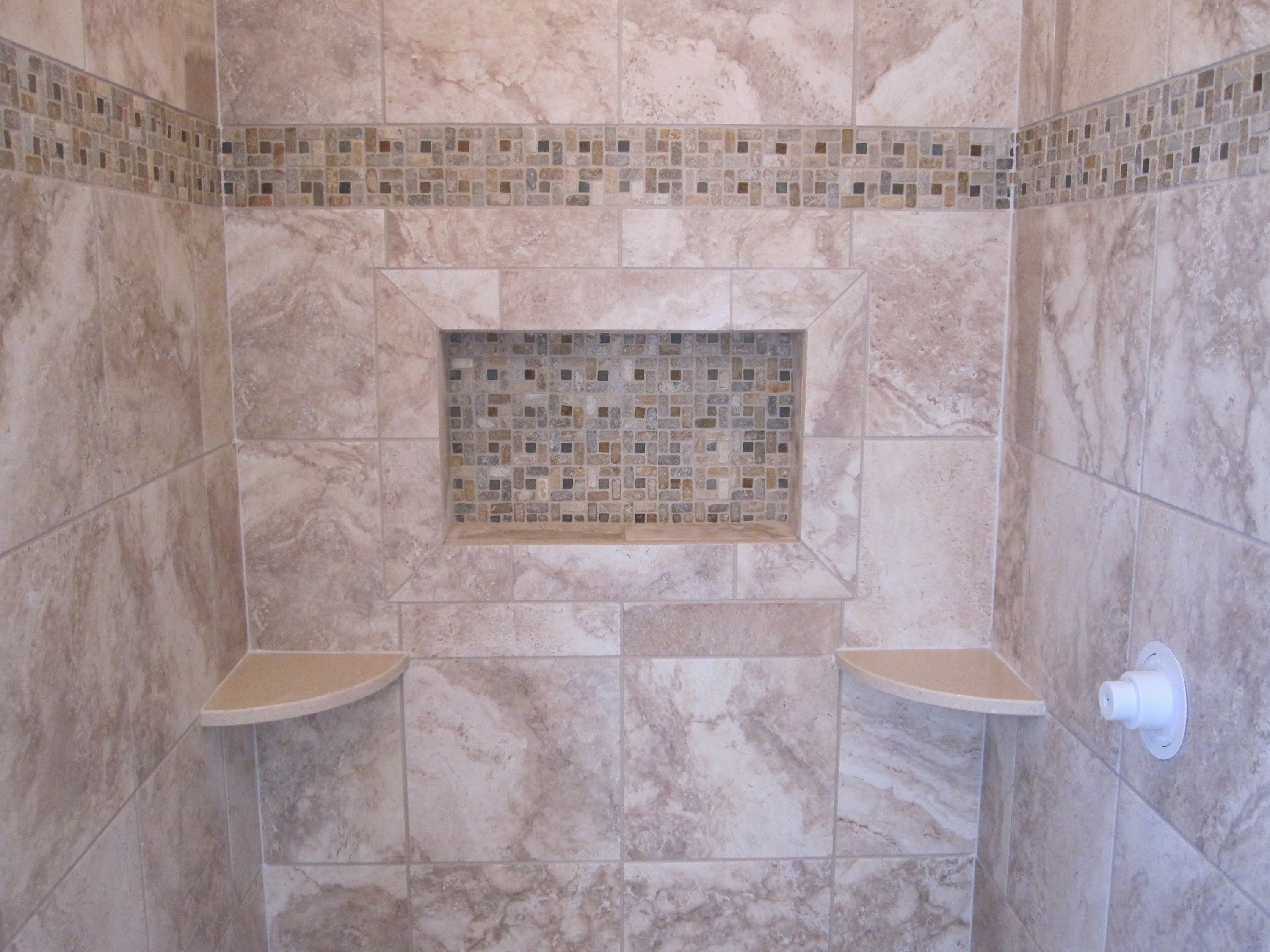 floor tile trim on shower walls google search