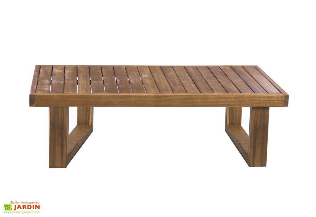 Table Basse De Jardin En Bois D Acacia 100 X 50 X 30 Cm Table Basse Jardin Jardins En Bois Table De Jardin Bois