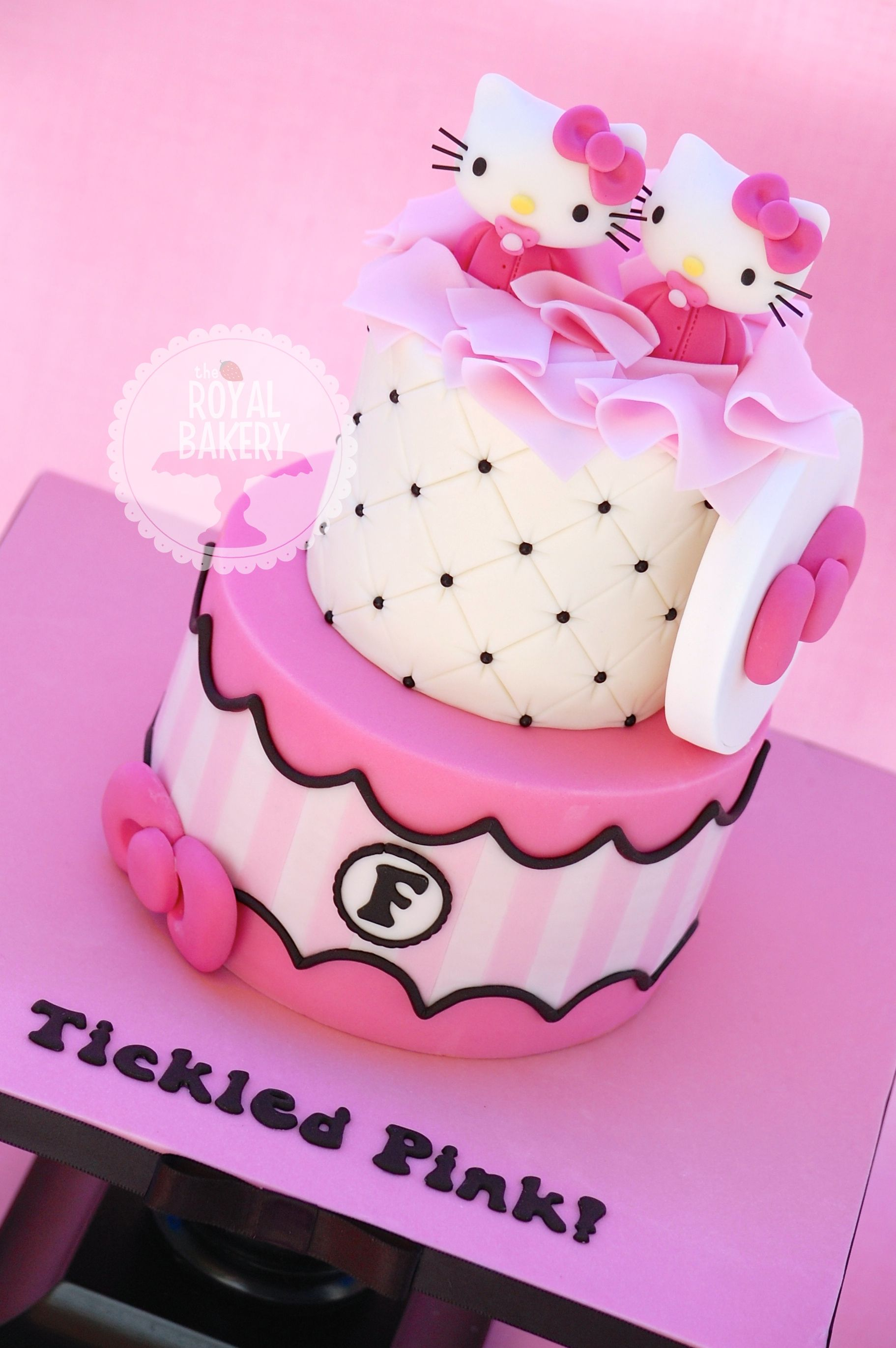 Hello Kitty Twins Baby Shower Cake