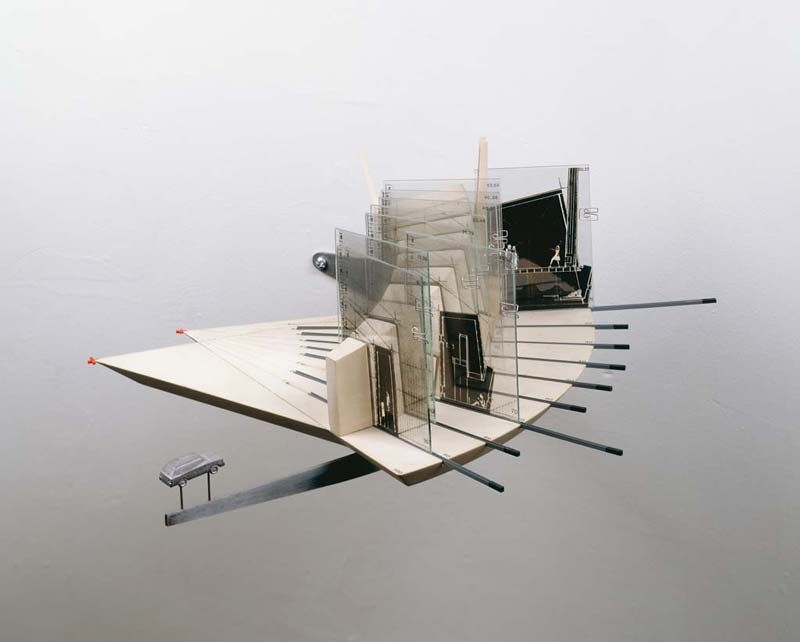 Rotational iterative model physical model architecture for Architectural concept models