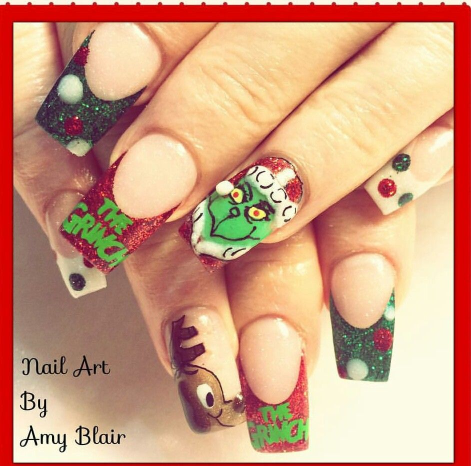 Grinch nails | Beautify Me | Pinterest | Grinch and Winter nails