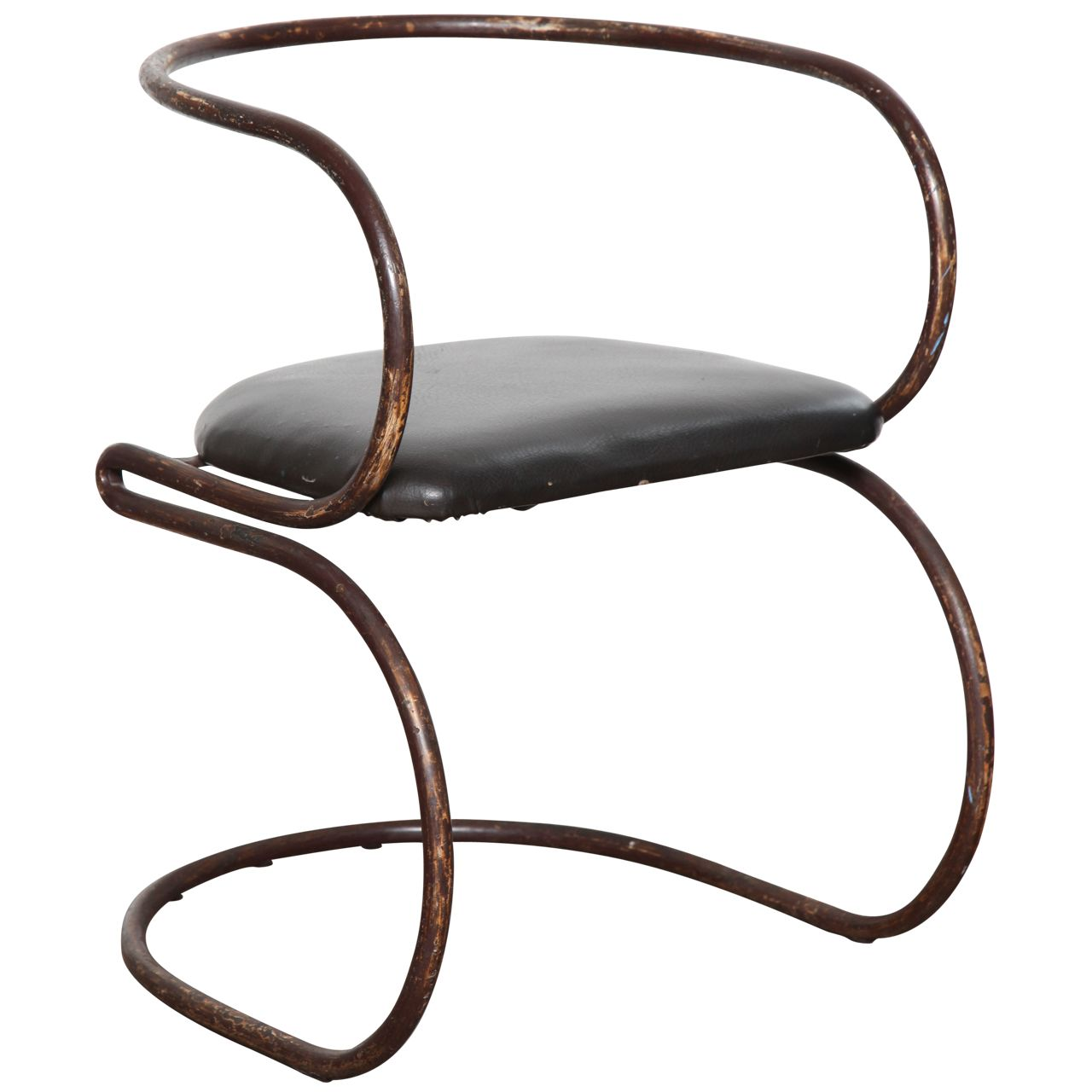 Bauhaus tubular steel lounge chair at 1stdibs - Nathan Horwitt Chair