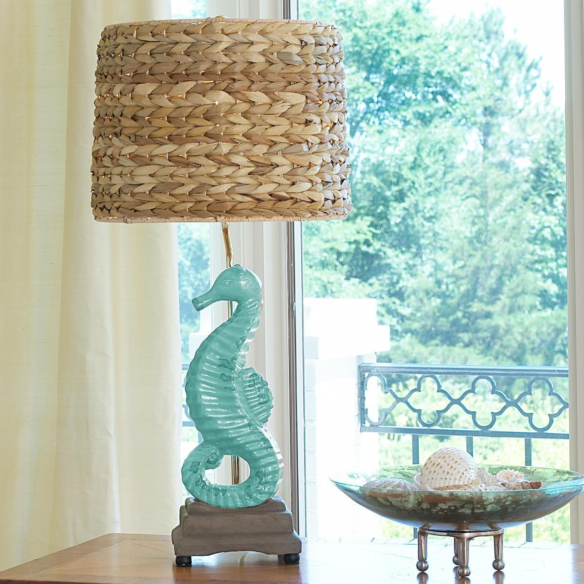 Glass mermaid sitting on conch shell accent lamp eclectic table lamps - A Possibility For A Table Lamp In The Hawaiian Themed Bedroom