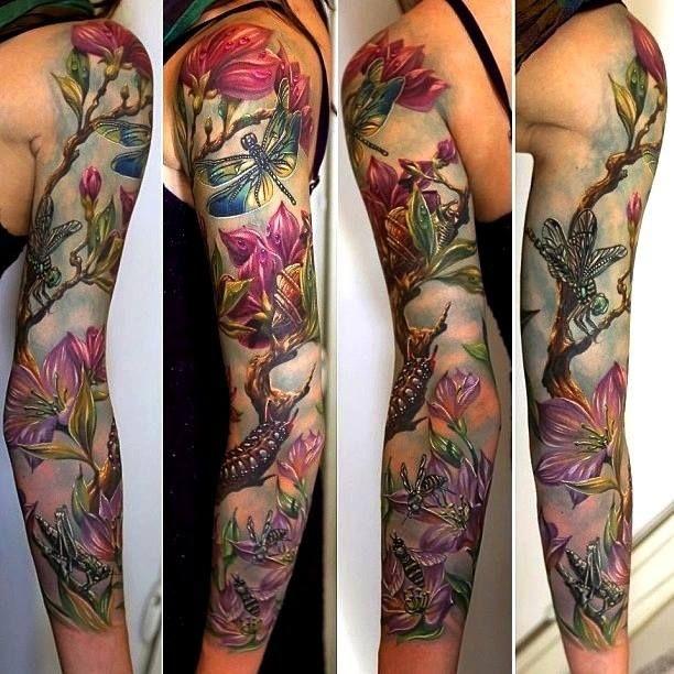 Full sleeve tattoo ideas for women