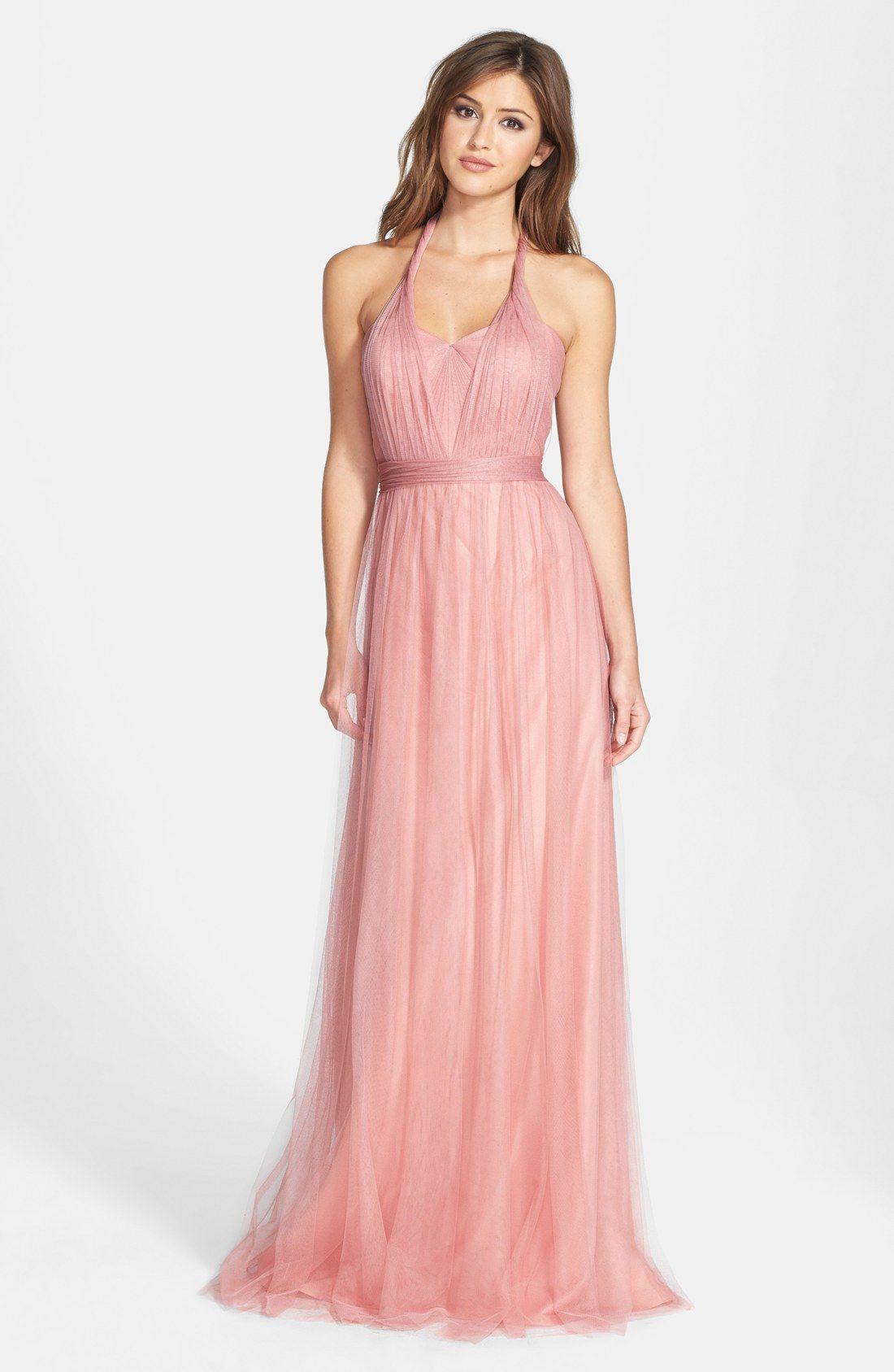 Jenny Yoo Annabelle Convertible Tulle Column Dress Nordstrom
