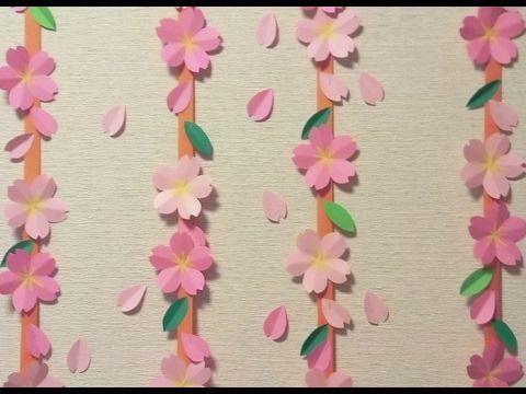 介護レク X2f 季節の制作 紙を開くと あっと驚く桜の花