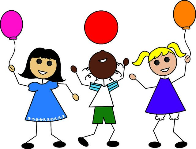 clip art illustration of cartoon kids with balloons flickr rh pinterest co uk kids clipart to color kids clipart flowers