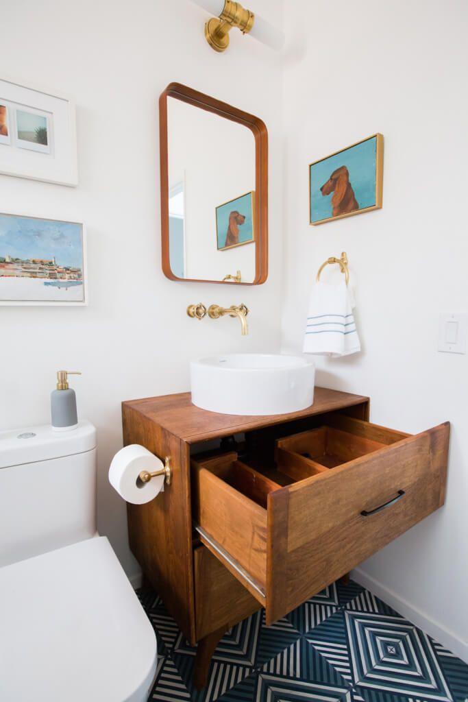Guest Bathroom Reveal Shop The Look Mid Century Bathroom
