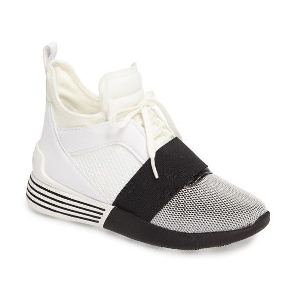 Women's Kendall + Kylie Braydin Hidden Wedge Sneaker ($135) ❤ liked on  Polyvore featuring shoes, sneakers, white, hi top wedge sneakers, hidden  wedge heel ...