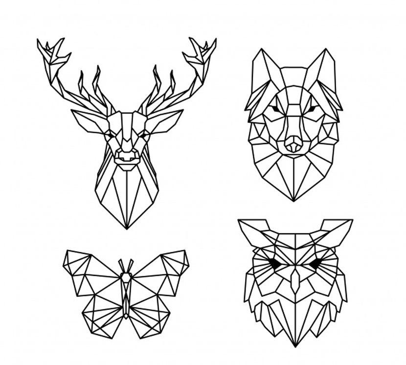 47 Plantillas De Tatuajes Gratuitas Para Inspirarte Para Tu Proximo Tattoo Tatuaje Buho Geometrico Animales Geometricos Pixel Art