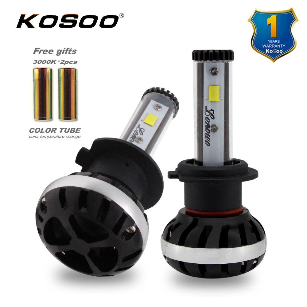 Kosoo Car Led H7 Headlights 72w 8000lm Automobile Bulb Headlamp