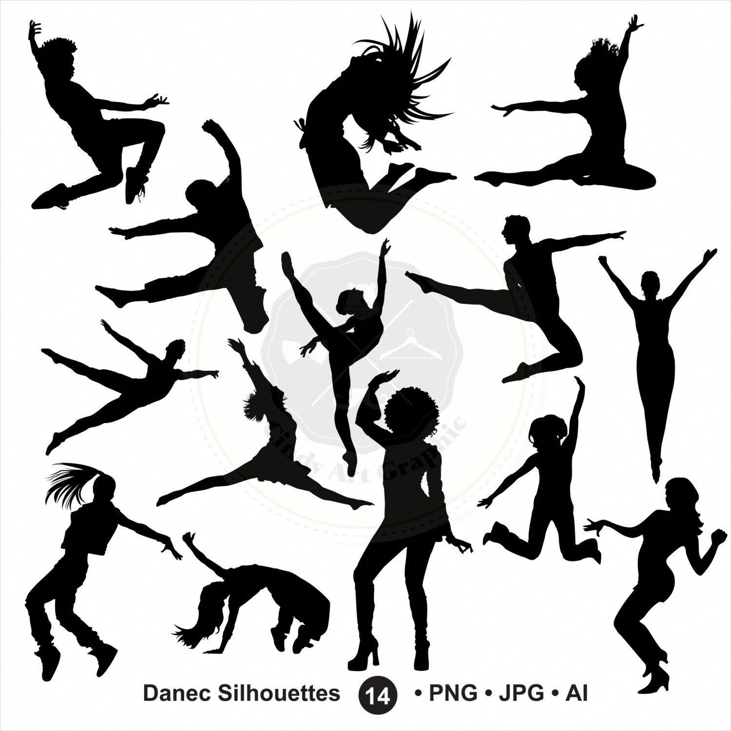 Dance Silhouettes Svgdancer Silhouettes Bundle Svg Dancer Etsy Dance Silhouette Dancer Silhouette Hip Hop Dance