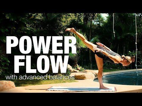 power flow with advanced balances yoga class  five parks