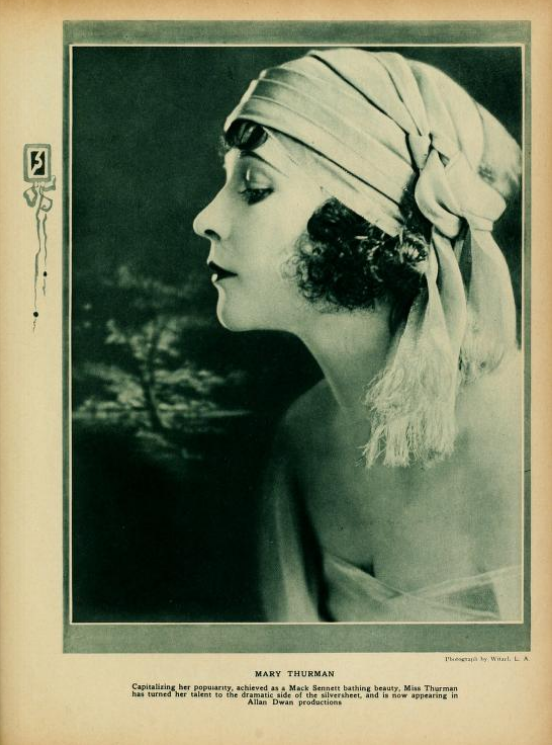 Mary Thurman, looking very much like Norma Talmadge.