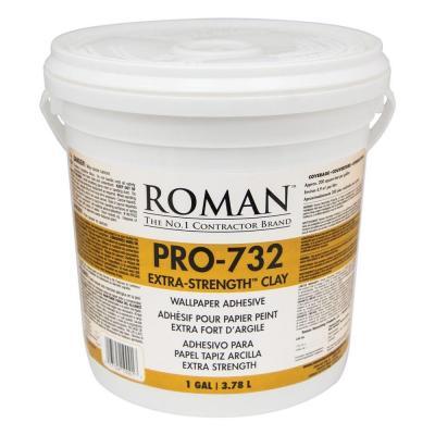 Roman Pro 732 1 Gal Extra Strength Wallcovering Adhesive Adhesive Adhesive Wallpaper Concrete Filler