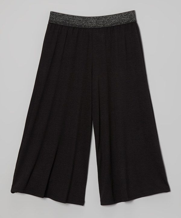 Loving this Black Gaucho Pants on #zulily! #zulilyfinds