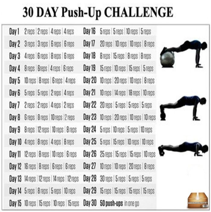 30 Day Push-Up Challenge - Healthy Body Workout Plan