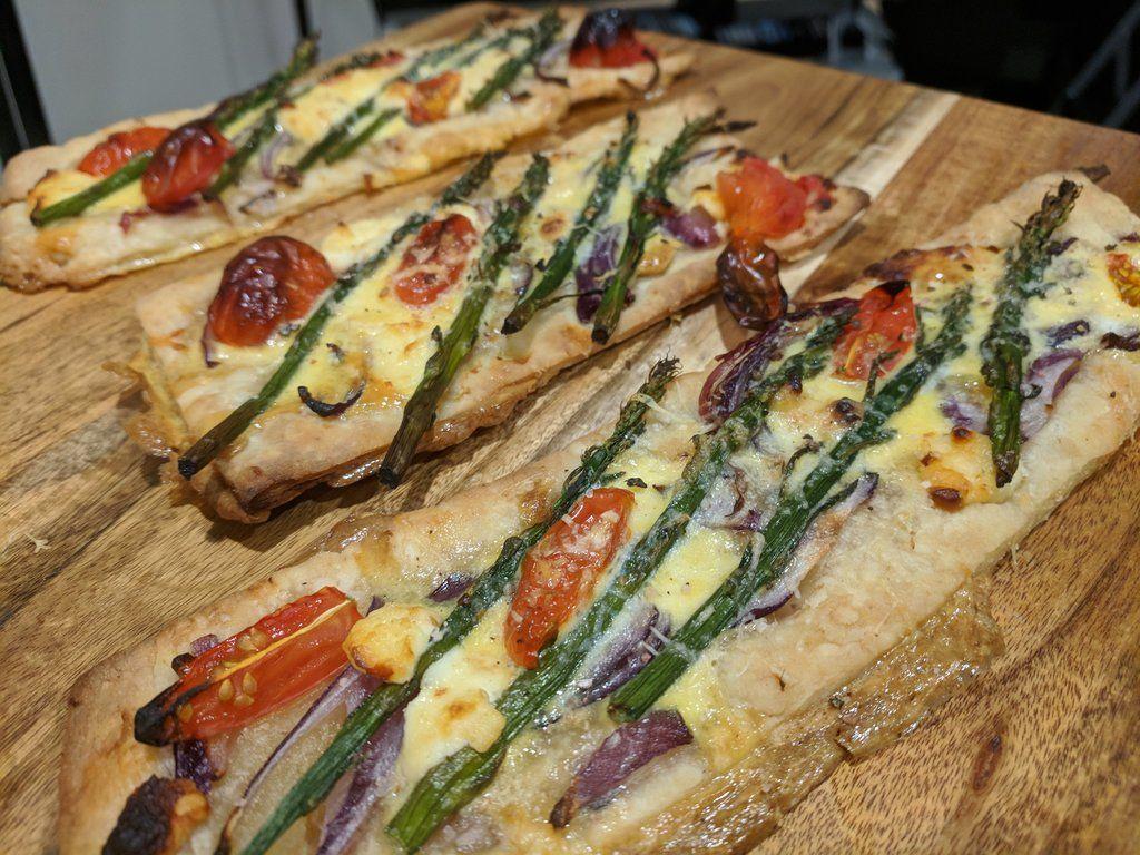 Asparagus, Cherry Tomato, and Feta Tart