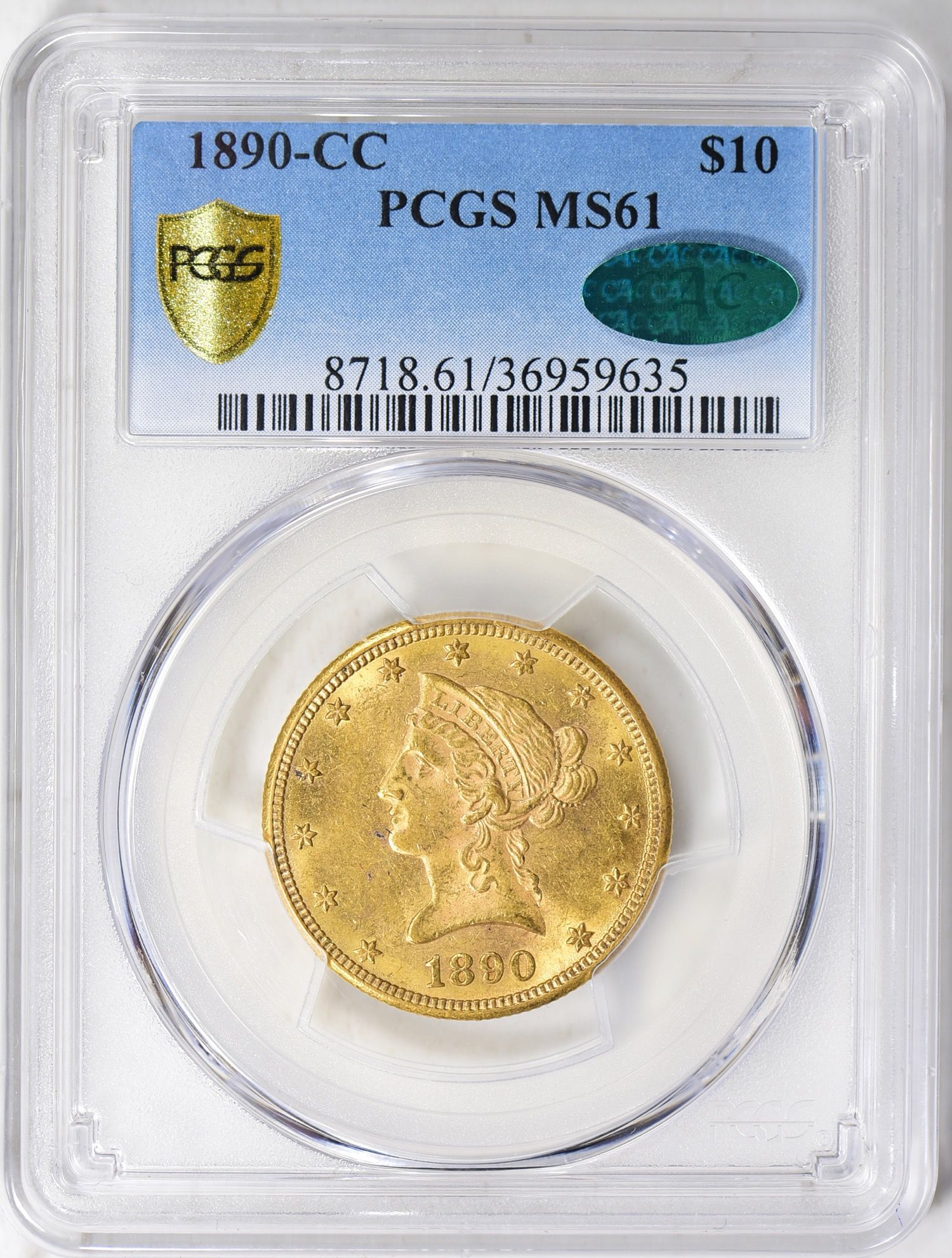 1890 Cc Liberty Gold Eagle Pcgs Ms 61 Cac Goldeagles Libertygoldeagles Pcgs Eagle Goldeagle Tendollars Ten Cappedbustrig Coin Auctions Sell Coins Pcgs