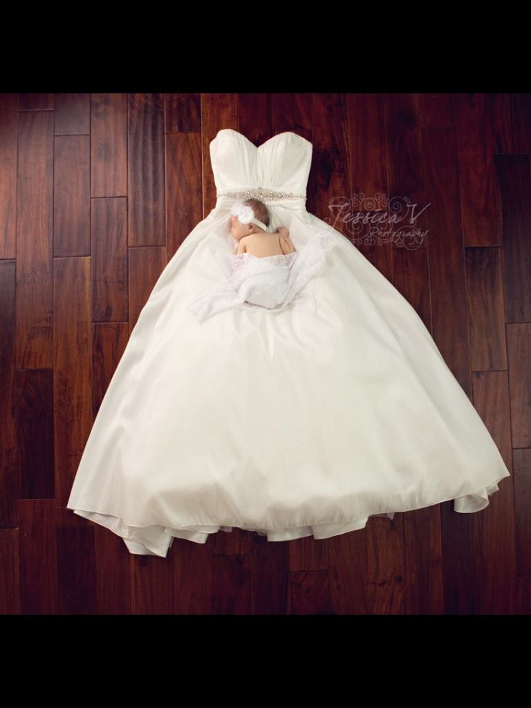 Baby Girl And Wedding Dress Foto Fotoshoot Fotografie
