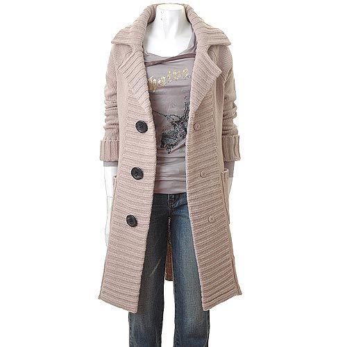 Вязание пальто на осинке