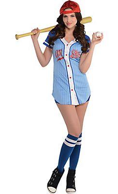 adult baseball babe costume - Baseball Halloween Costume For Girls