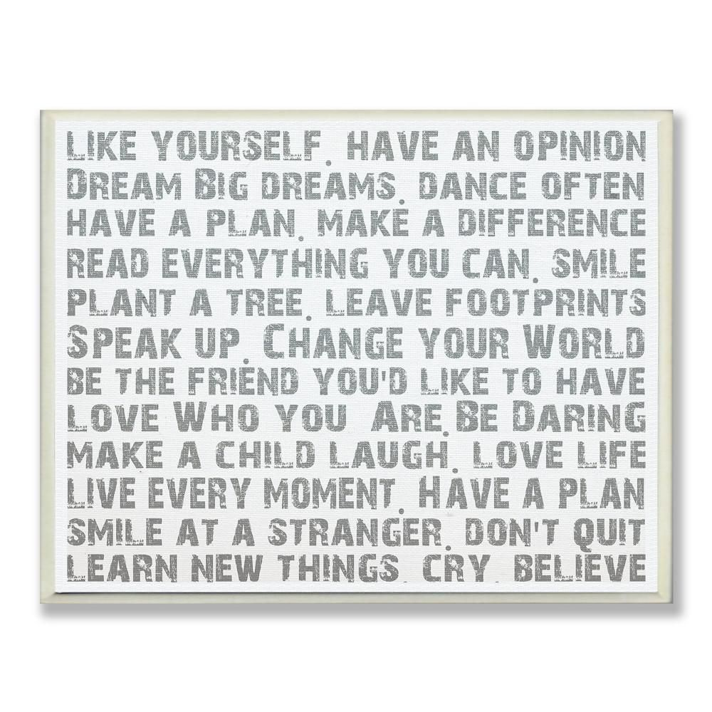 Stupell Industries 12 5 In X 18 5 In Like Yourself Inspirational Typography By Andrea James Printed Wood Wall Art Mwp 107 Wd 13x19 The Home Depot In 2021 Typography Wall Art Wall Art Plaques Wall Plaques