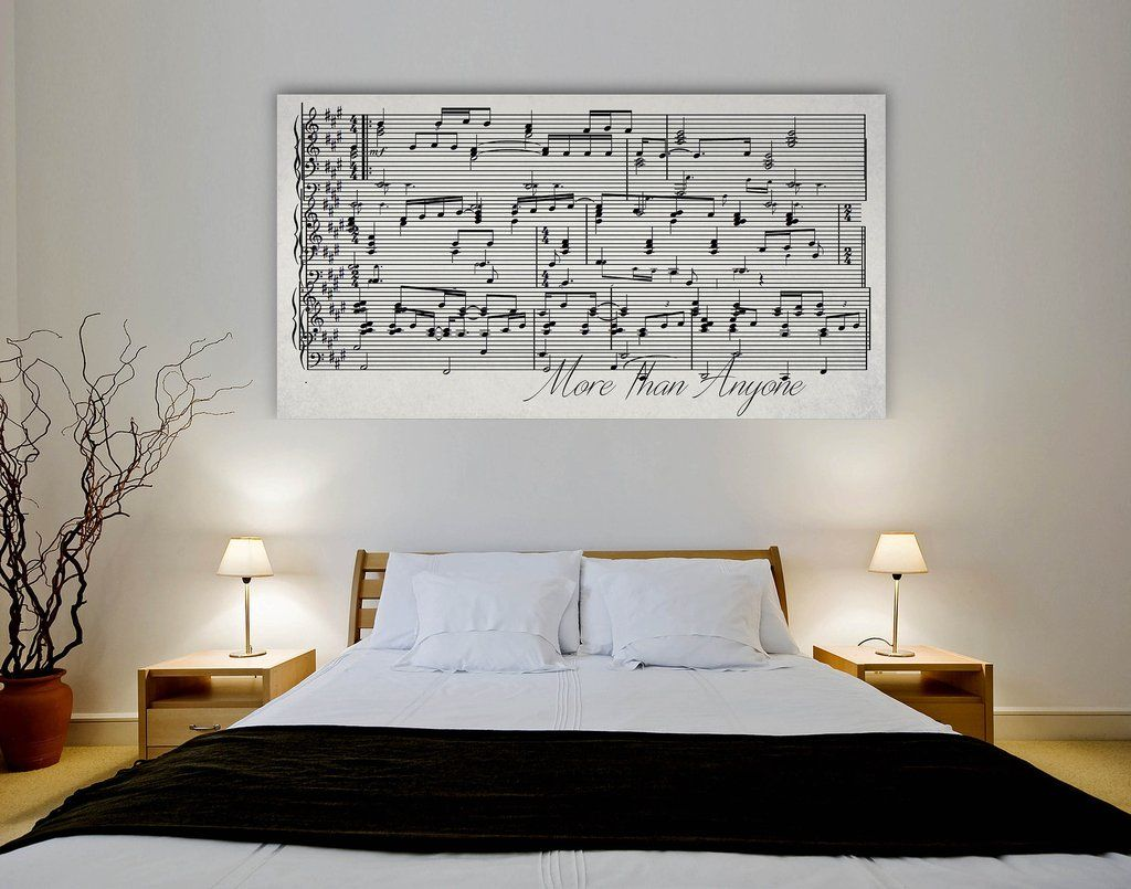 first dance lyrics on canvas a custom made canvas with your wedding song - Ly Design Your Bedroom