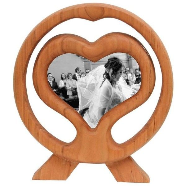 Large Italian Handcrafted Cherry Wood Picture Frame Wood Heart 2