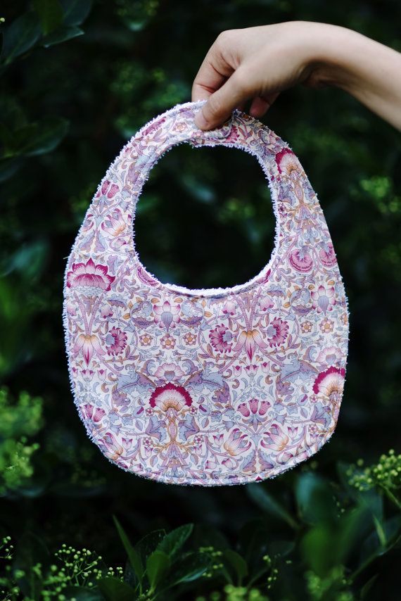 Liberty Floral Print Bib by YUITIES on Etsy