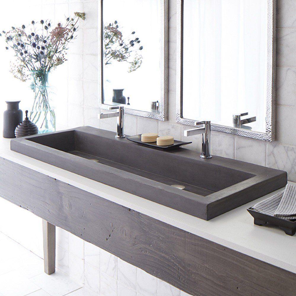 48 Inch Nativestone Trough Bath Sink Trough Sink Bathroom Stone