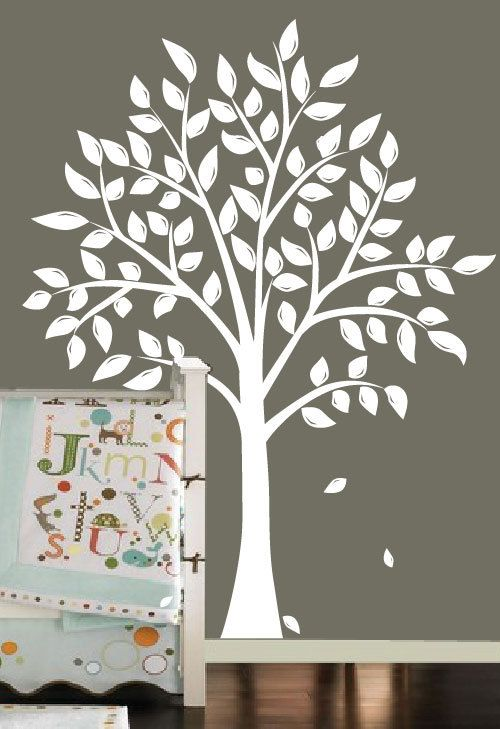 White Tree Decal Tree Canopy Portal Wall Sticker Two Symmetrical - Wall decals white tree