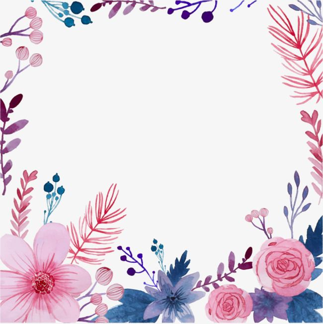 Creative Watercolor Flowers Watercolor Flowers Vector Art Card
