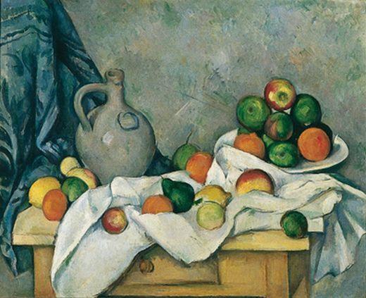 Paul Cézanne, Rideau, cruchon et compotier
