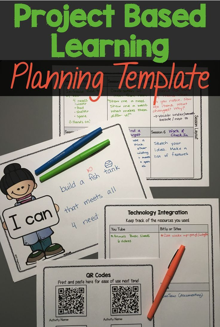 this project based learning pbl template helps you with backwards