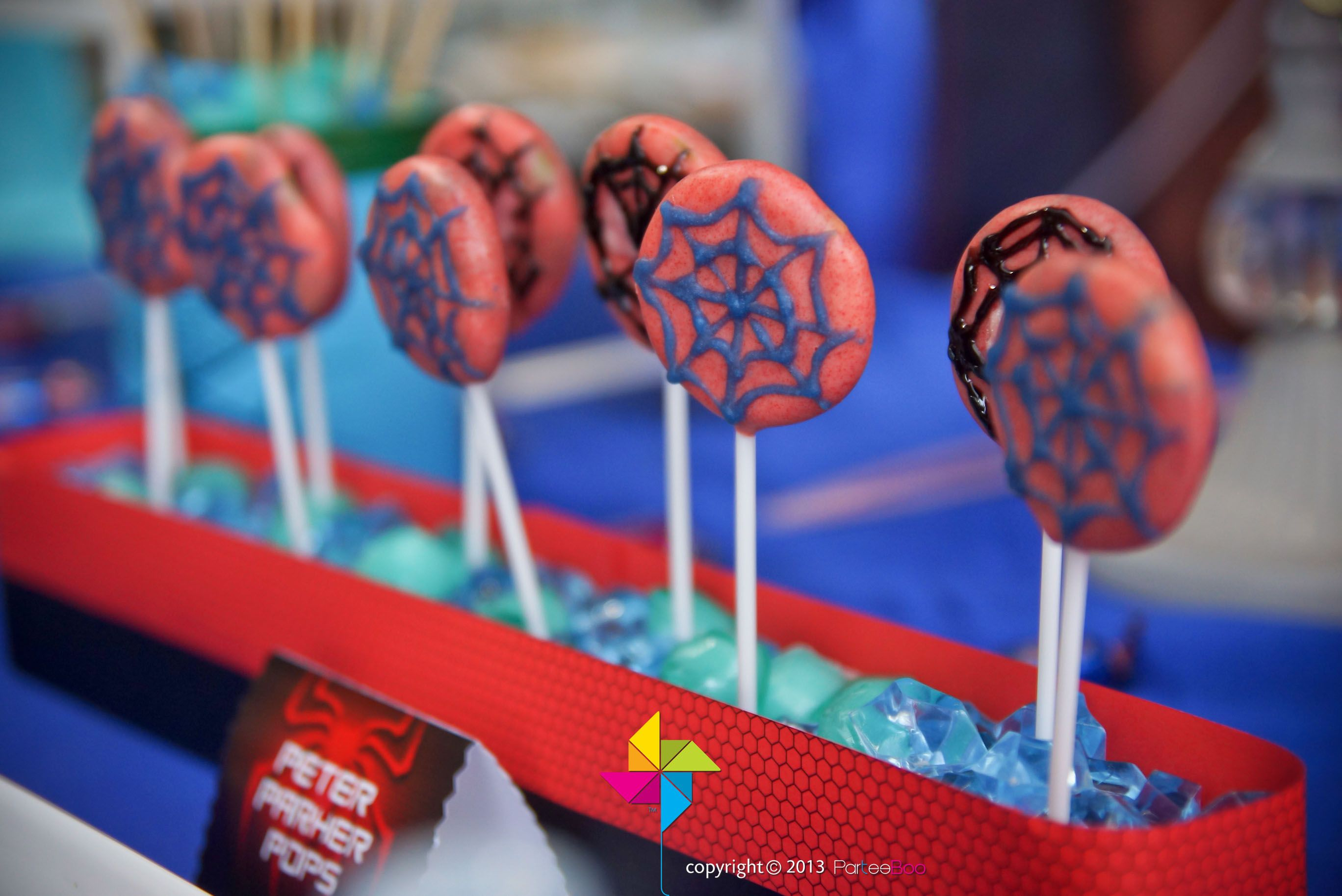 Spider Man Oreo Pops Made By Parteeboo
