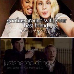 Goofing around with your bestfriend