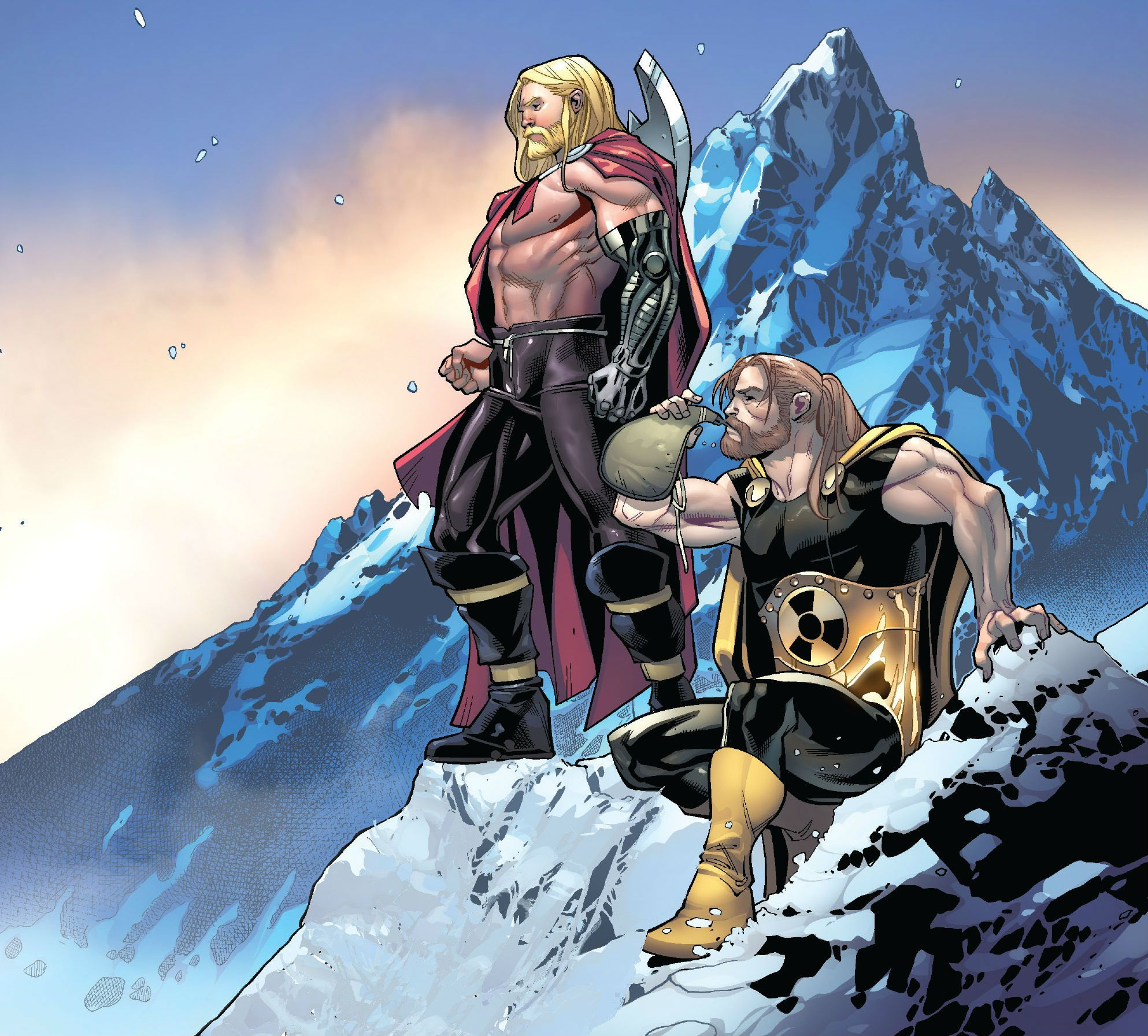 Thor and Hyperion by Dustin Weaver