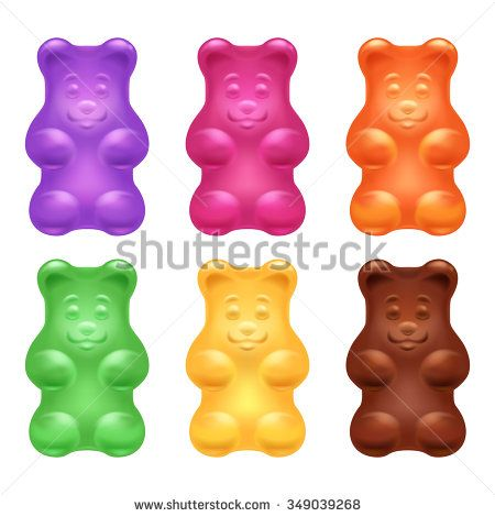 Set Of Colorful Beautiful Realistic Jelly Gummy Bears Sweet Candy Food Blueberry Orange Lemon Menthol Chocolate Gummy Bear Candy Animals For Kids Gummy Bears