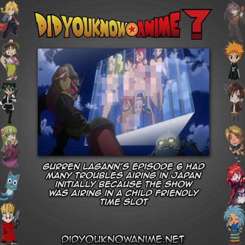Dyka Gurren Lagann 02 Did You Know Anime Gurren Lagann Anime Did You Know