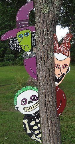 2 nightmare before christmas peeker halloween yard art decoration ebay
