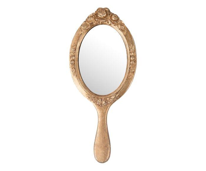 Espejo De Mano Aurora Dorado Espejo De Mano Espejos Tocador Antiguo