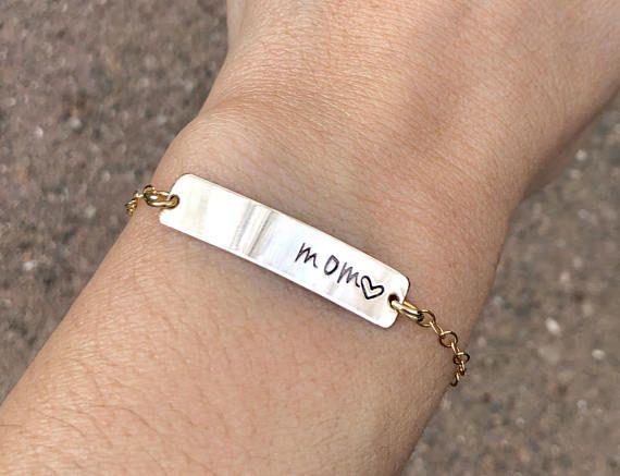 Personalized Bar Bracelet Custom Name