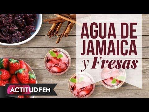 agua de jamaica para adelgazar con fresas