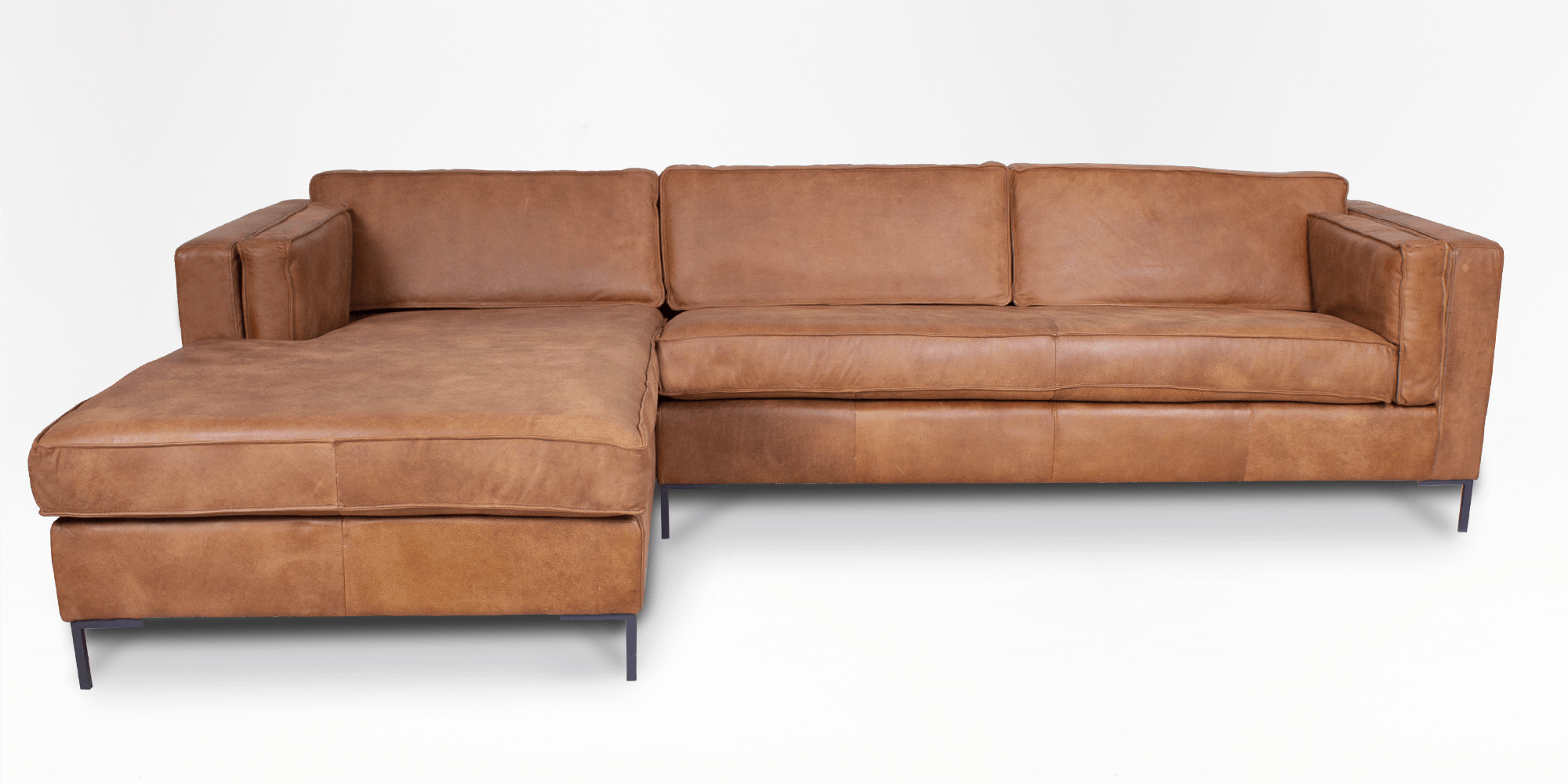 Haskell Leather Left Slouch 100 Leather Couches Shop By Type Couch Studio Coricraft Couch Styling Couch Shopping Living Room Leather