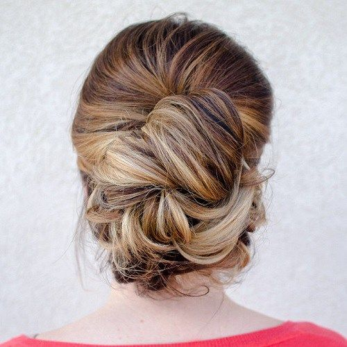 30 Easy And Stylish Casual Updos For Long Hair Casual Updos For Long Hair Thick Hair Updo Long Thick Hair