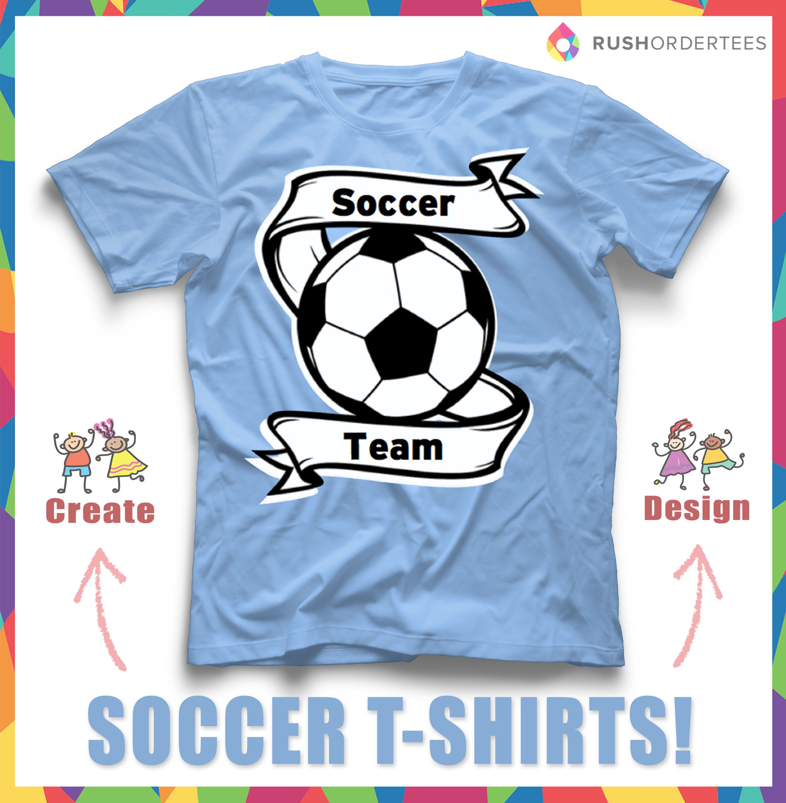 Soccer T Shirt Idea For Your Team Use Templates Upload Your Design Or Create Your Own Easily At Www Rushordertees Soccer Shirts Soccer Tshirts Soccer Gifts