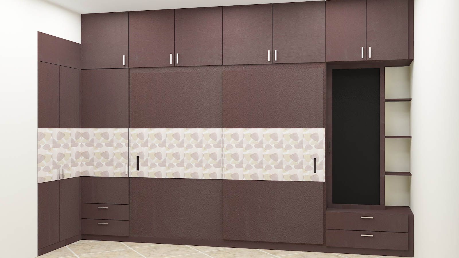 Modern wardrobe designs for bedroom for indian homes at for Contemporary wardrobe designs india