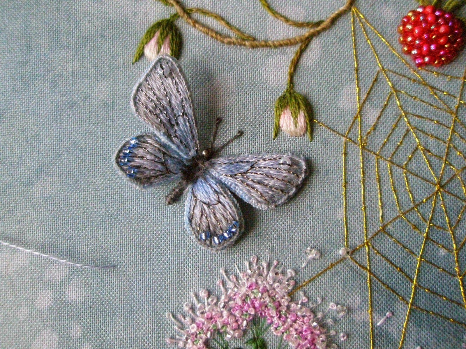 Вышивка гладью мастер класс цветы